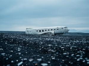 飛行機の不時着